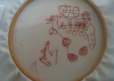 student work machine embroidery class