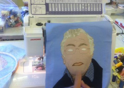 stitched portrait almost there